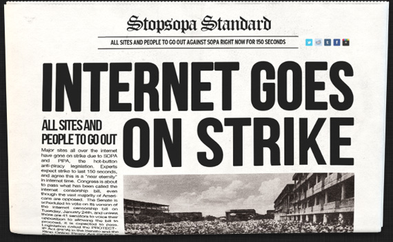 Internet Goes on Strike